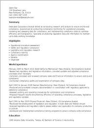Sample Resume For Analyst by Professional Compliance Analyst Templates To Showcase Your Talent