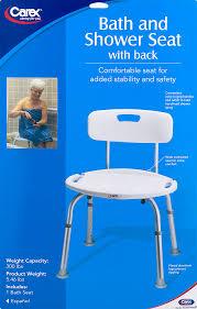 carex adjustable shower chair bath seat with back walmart com