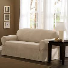 Sofa Loveseat Covers by Mainstays Faux Suede Loveseat Slipcover Walmart Com