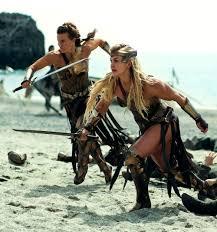 woman brooke ence playing amazon warrior