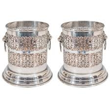 antique lion ring holder images A vintage pair of sheffield silver plate wine holders with lion jpeg