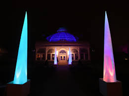 Botanical Gardens Lights Multicolored Lights Soundscapes Take Visitors The Sea At