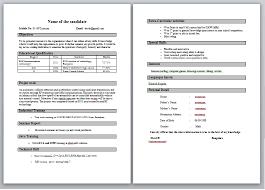 Fresher Resume Model Good Resume Format For Fresher Resume Format