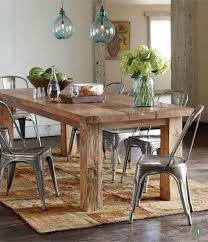 wood and metal dining table sets reclaimed wood table from floor boards love the texture between the