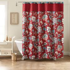better homes and gardens red jacobean fabric shower curtain