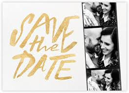 online save the dates gold and metallic save the dates online at paperless post