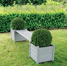 deck bench with planters plans garden bench with planters grey