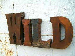 Metal Letters For Decor Metal Letter M Wall Decor Metal