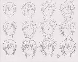 drawn manga anime boy hair pencil and in color drawn manga anime