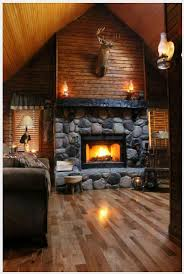 Log Cabin Bedroom Furniture by Best 25 Cabin Fireplace Ideas Only On Pinterest Timber Homes
