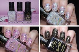 barry m sequin nail effects swatches nail lacquer uk