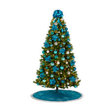 lighted tree with deco mesh what beautiful