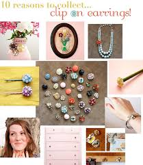 what are clip on earrings 10 ways to repurpose clip on earrings oh how i wish i d saved
