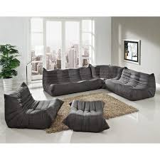 Gray Microfiber Sofa by Living Room Furniture Living Room Modern Sectional Sofa And