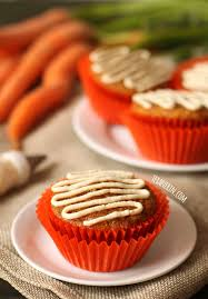 gluten free and grain free carrot cake cupcakes with a dairy free