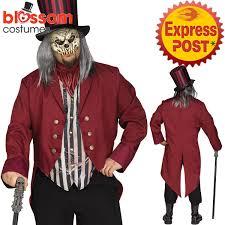 ca450 mens freak show ringmaster circus killer clown scary