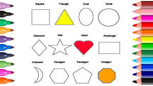 how to draw shapes in math circle heart triangle coloring