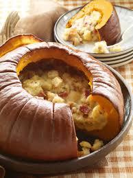 savory stuffed pumpkin recipe hgtv