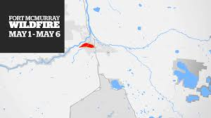 Fort Mcmurray Alberta Canada Map by Fort Mcmurray Wildfire How It Grew Day By Day Cbc News