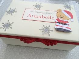 personalised keepsake box personalised christmas memory box personalised christmas keepsake