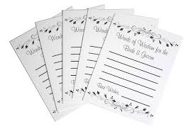 bridal shower groom questions amazon com newlywed wedding guest advice cards wedding day