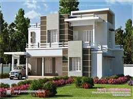 flat ro contemporary home kerala design 2017 with modern roof