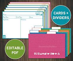 printable recipe cards 4 x 6 editable recipe cards divider 4x6 recipe cards printable