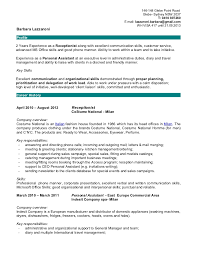 Receptionist Job Description For Resume by Responsibilities Of A Receptionist Resume