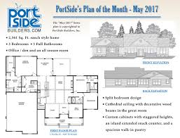 Floor Plans For Ranch Style Homes Home Plan Of The Month Portside Builders U2022 New Home Ideas