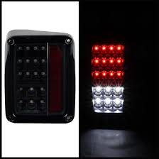 Jeep Tj Led Tail Lights Spyder Auto Jeep Wrangler 07 16 Led Tail Lights Black