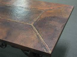 copper top dining room tables rectangle tables