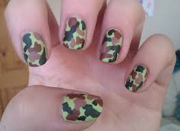 camouflage nail polish design fancy camo nail designs for a