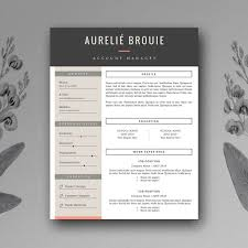 Creative Resume Templates Word Cv Template For Ms Word Resume Templates Creative Market