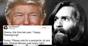 Charles Manson Meme - twitter s convinced trump endorsed charles manson with bizarre