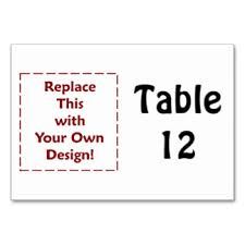 create your own numbers table table cards place cards zazzle