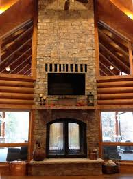 living room amazing home interior stacked stone wall see through