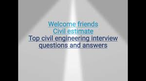 top civil engineering interview questions and answers youtube