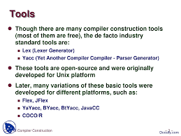 compiler construction tools compiler construction lecture slides