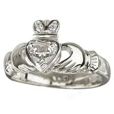 claddagh engagement ring 18k white gold and diamond claddagh engagement ring moon