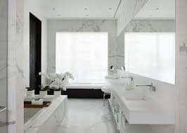 Marble Bathroom Tile Ideas Beautiful White Marble Tile Bathroom Shower With Black Dornbracht