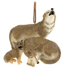 wolf family ornament animal animal birds flowers insects