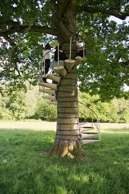 canopystair spiral staircase straps onto any tree without tools