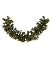 operated 9 x 10 oregon garland w 100 clear led lights