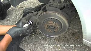 how to change brake pads u0026 rotors on a vw polo youtube