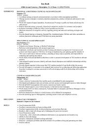 clinical sales specialist resume samples velvet jobs