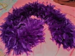 turkey feather boa thick 5 6 purple turkey feather boa 12 14 around