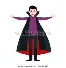Dracula Costumes Halloween Boy Wearing Dracula Costume Halloween Party Stock Vector 606691601