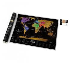 Scratch Off World Map Travel Map Black Buy Scratch Map In 1dea Me Gift Store