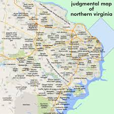 Virginia Map With Cities Judgmental Maps Northern Virginia Arlington Va By Robert