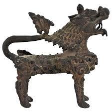 foo lions for sale antique bronze foo lion figure at 1stdibs